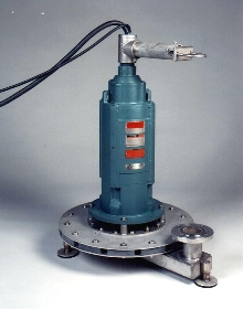 Submersible Aerator stirs up sewage.
