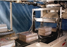Shrink Wrap Machine wraps 75 bundles per minute.