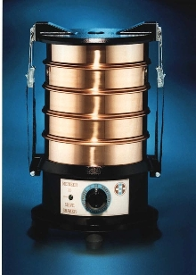 Sieve Shaker determines particle size in minutes.