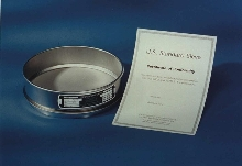 Standard Sieves are made of stainless steel.