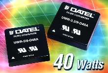 DC/DC Converters provide up to 40 W of power.