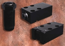 Hydraulic Clamps hold thin-walled workpieces.