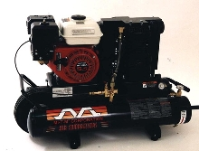 Air Compressor has Honda engine.