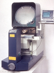 Optical Comparator transfers data to PC for analysis.