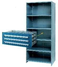 Drawer Storage Unit retrofits into standard shelving.