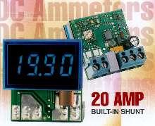 DC Ammeter features built-in 20 mV shunts.
