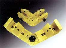 Clamps provide variable-angle positioning.