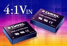 DC/DC Converters offer 4 to 1 input voltage ranges.