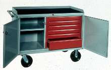 All-Welded Mobile Work Centers measure 48 x 26 x 36 in.