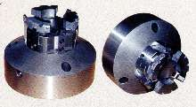 Power Chucks grip ID of automotive brake rotors.
