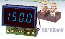 DC Ammeters mate directly with 50 and 100 mV shunts.