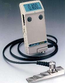 Thickness Gage works with most materials.