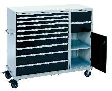Mobile Workstations bring parts and tools to job site.