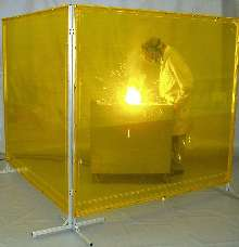 Screens provide portable welding protection.