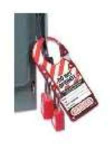 Lockout Hasp offers high visibility.