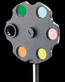 Rotatable Filter Wheel holds up to 6 filters.