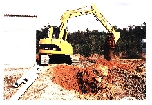 Hydraulic Excavator fits in tight places.