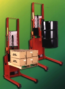 Telescoping Hydraulic Stacker Lifts Loads Up To 130 In