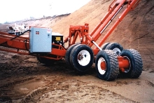 Axle Assembly retrofits to conveyor undercarriages.