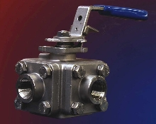 Ball Valve features 3 or 4 way body port configuration.