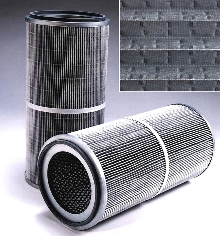 Cartridge Filter has larger filter area.