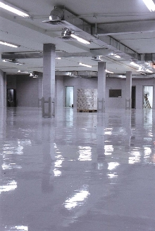 Coating System prevents floor erosion.