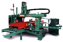 CNC Web Drill processes structural steel.