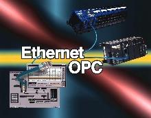 Server interfaces software to Ethernet I/O.