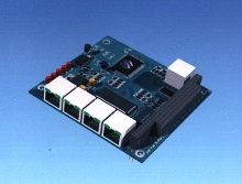 Ethernet Switch works with embedded PC/104 systems.