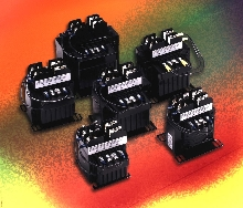 Control Transformers work with relays and solenoids.