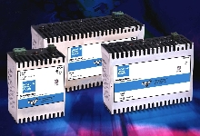 DC Power Supplies generate high power in DIN rail package.