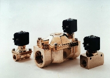 Solenoid Valves available for air, water, and fluids.