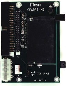IDE/Compact Flash Adapter allows through-panel mounting.