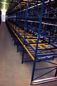 Rack System provides mobile pallet storage.