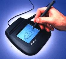 E-Signature Device captures electronic signatures.