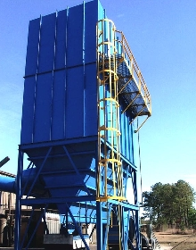 Dust Collector removes airborne sand.