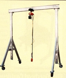 Gantry Cranes lift and move bulky items.