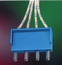 Crimped Connector suits rotary switch applications.
