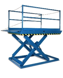 Dock Lift can be run over by trailers.