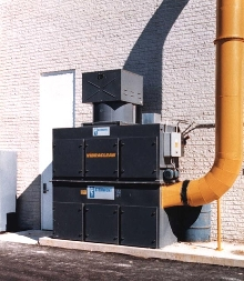 Dust Collector suits low headroom applications.