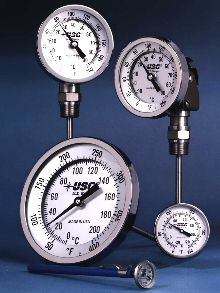 Bimetallic Thermometers meet ASME B40.3 standard.