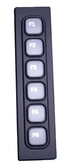 Keypad features molded elastomer technology.