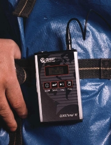 Personal Heat Strain Monitor checks temperature and heart rate.