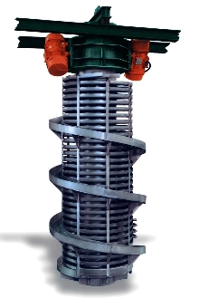 Vibrating Spiral Elevator suits cleaning applications.