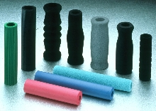 Foam Rubber Grips conform to shape of users' hands.