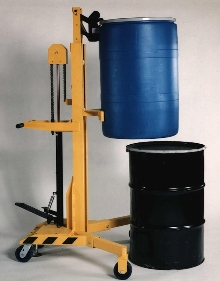 Drum Handler offers variable lift heights.