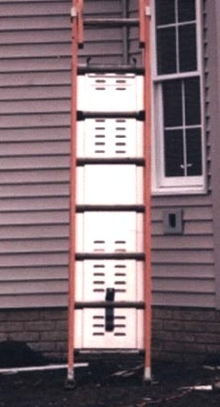Ladder Guard prevents unauthorized use of ladders.