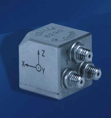 Triaxial Accelerometer operates up to 165°C.