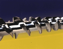 Screws and Barrels extrude rubber products.