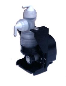 Metering Pump resists most chemicals.